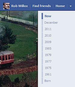 Facebook Timeline date list